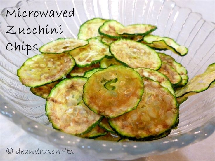 """So before you blow me off and think, """"What? How can that possibly taste good?"""" Go with me on this.... I have tried - many times - to make baked zucchini chips. I don't know why it seems I can't get that recipe right, but when I found this recipe for microwaved zucchini chips, I have not gone back to trying, and sometimes failing, at making the baked ones. These little crunchy chip devils are so perfectly right, that I don't even think I'm eating zucchini, but that'..."""