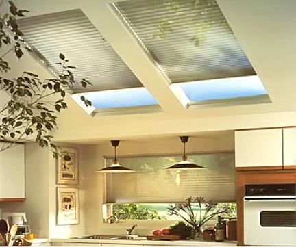 1000 images about skylights on pinterest transitional for Motorized blinds for skylights
