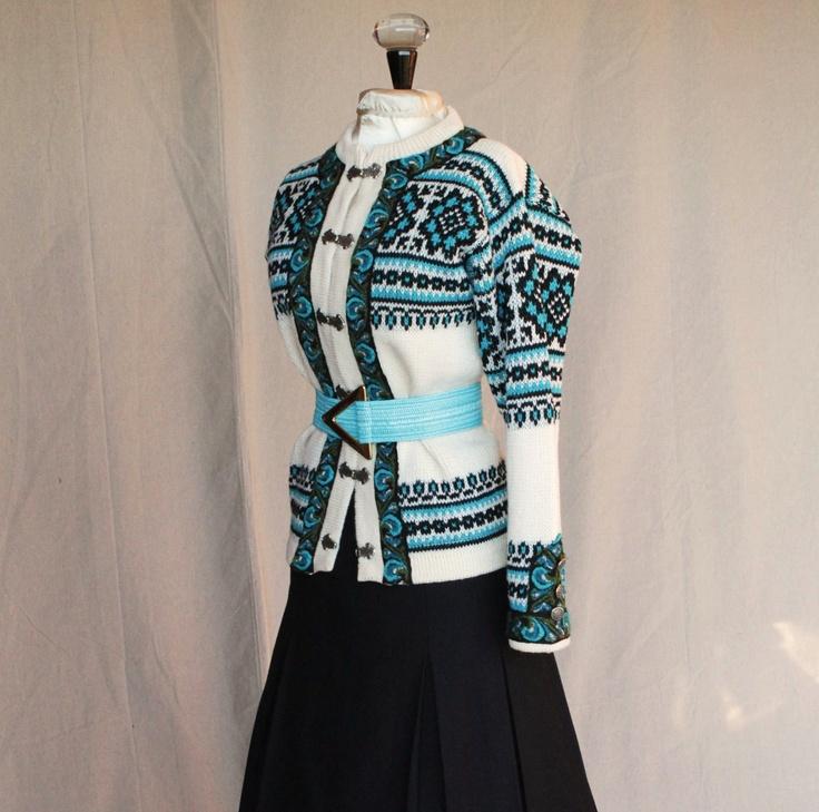 Wool Norwegian Blue Sweater by Nordstrikk size Large