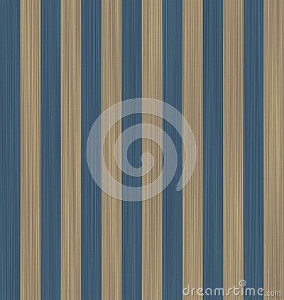Texture beige and blue striped wallpaper.