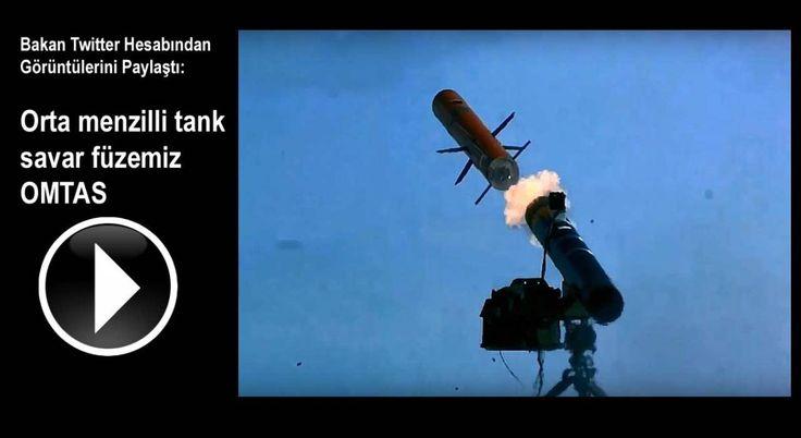 Bakan Twitter Hesabından Görüntülerini Paylaştı: Orta menzilli tank savar füzemiz OMTAS
