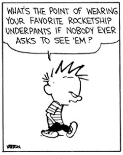 What's the point... Calvin and Hobbes