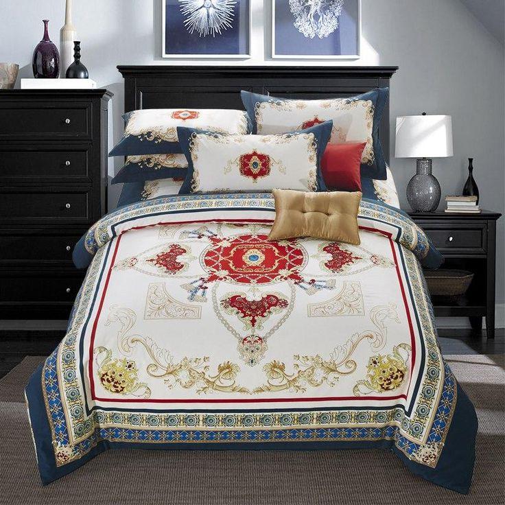 TUTUBIRD Bedding Set 100% Cotton. Duvet Cover Bed-linen & Bedspread.