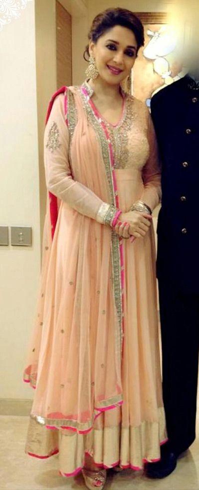 Madhuri Dixit in Anarkali #salwaar kameez #chudidar #chudidar kameez #anarkali #anarkali suits #dress #indian #hp #outfit  #shaadi #bridal #fashion #style #desi #designer #wedding #gorgeous #beautiful