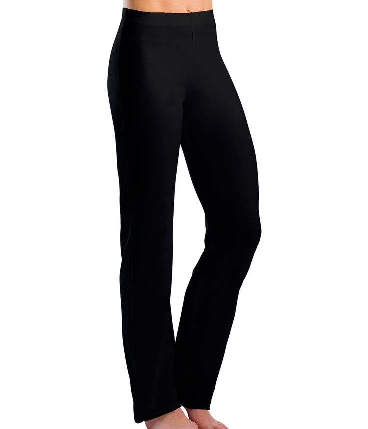Boot Cut Jazz Pants - Motionwear Black, 1X