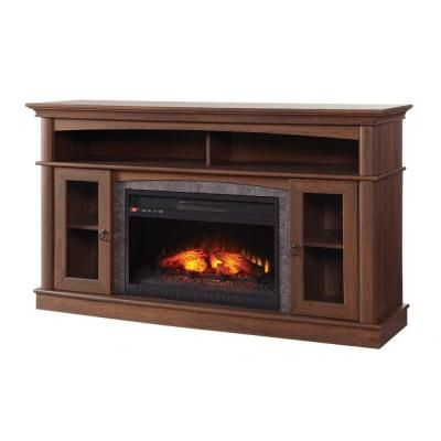 Home Decorators Collection Grafton 46 In Media Console Infrared Electric Fireplace In Medium
