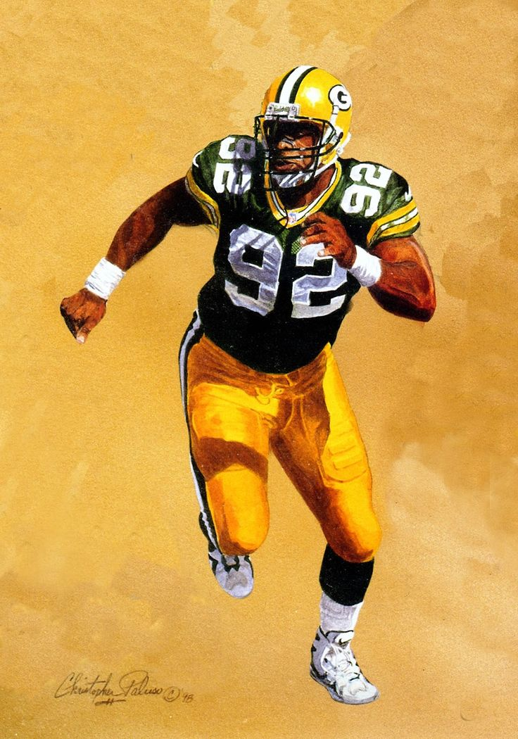 Reggie White, Green Bay Packers by Christopher Paluso