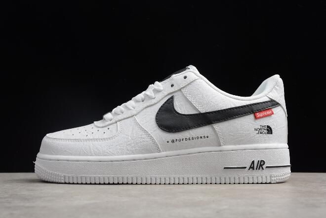 official photos 50f3e 0e2b4 2018 Nike Air Force 1  07 x Supreme x The North Face White Black AR3066-100