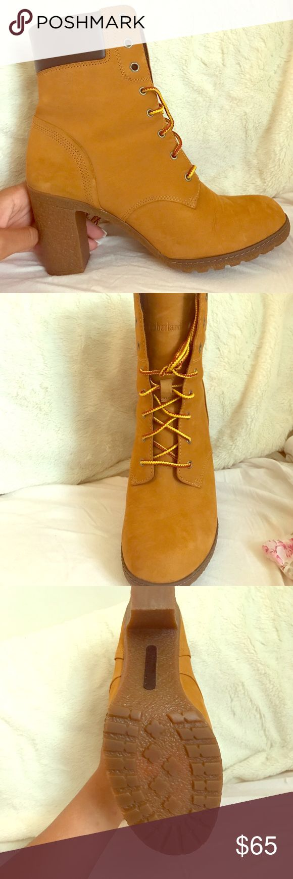 Timberland heels Brand new! Have not worn! Classic colored timberland heels! Timberland Shoes Heeled Boots