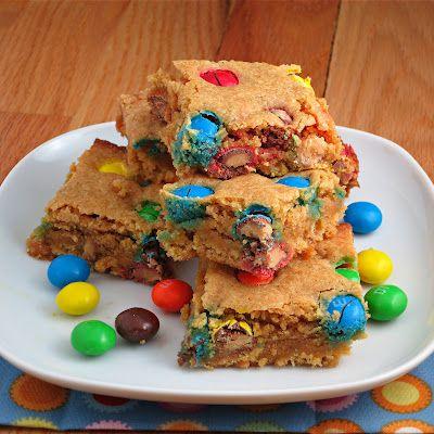 Peanut Butter M Blondies | Alida's Kitchen: Yummy Desserts, Desserts Recipes, Sweet Treats, Alida Kitchens, Delicious Stuff, Soo Yummy, Peanut Butter, Brownies, Butter Blondi