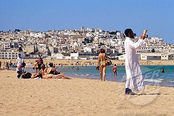Morocco, Tangier beach and Medina