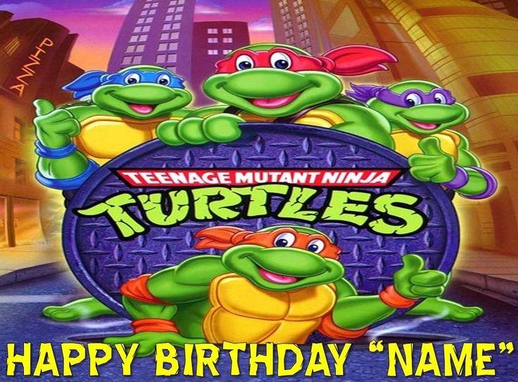 Teenage Mutant Ninja Turtles Edible Cake Topper Image Quarter And Half Size Teenage Mutant Ninja Turtles Art Teenage Mutant Ninja Teenage Mutant Ninja Turtles
