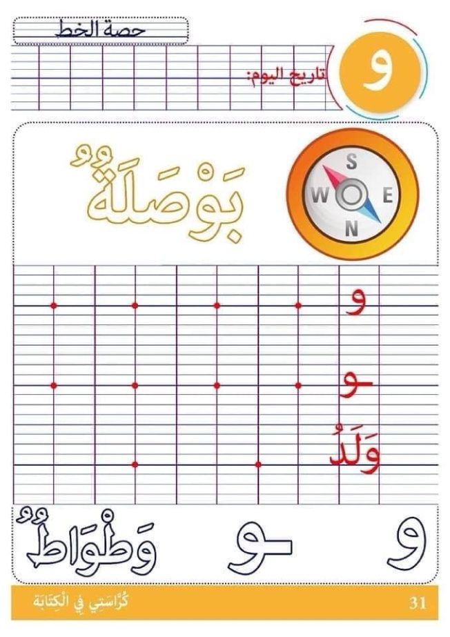 كراس لتعليم الأطفال الخط تضم جميع الحروف Learn Arabic Alphabet Arabic Alphabet For Kids Learning Arabic