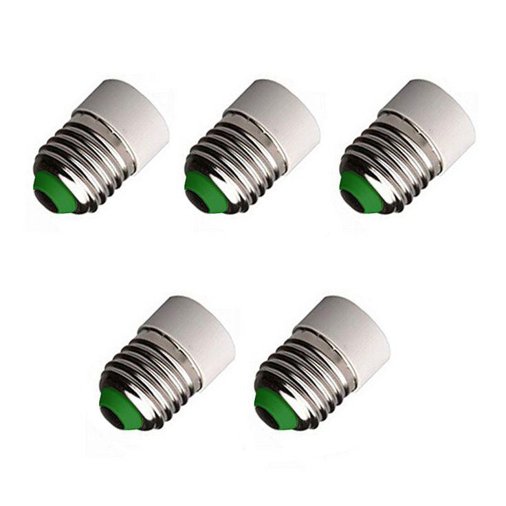 5 PCS E27 to E14 LED Light Bulb Base Converter Socket Screw Adapter
