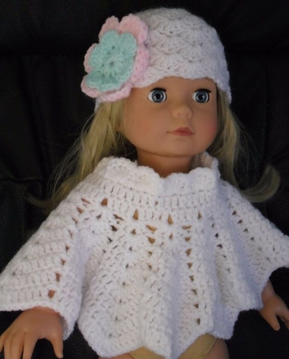 19 Best Doll Ponchos Images On Pinterest Crochet Doll Clothes
