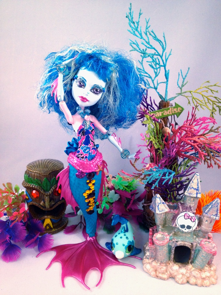 MONSTER HIGH Siren Mermaid Doll / Outfit / Pet. , via Etsy.