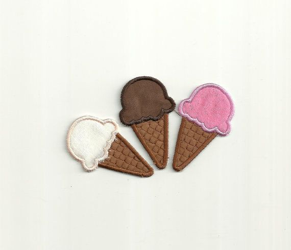 Choice of 1 Ice Cream Cone Patch! Custom Made!