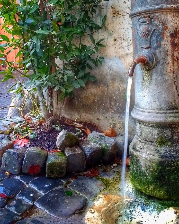 Em Roma não cometa o erro de comprar garrafinhas d'água. Na cidade são milhões de fontes de água potável como esta! Compre uma garrafinha e depois só reabasteca! #dicasemroma . Lembre-se que nós organizamos o seu transfer do/para o aeroporto e também sua hospedagem! info@emroma.com .  Veja mais no Snapchat Em_Roma  #Roma #europe #instatravel #eurotrip #italia #italy #rome #trip #travelling #snapchat #emroma#viagem #dicas #ferias #dicasdeviagem #brasileirospelomundo #viajandopelomundo #fonte