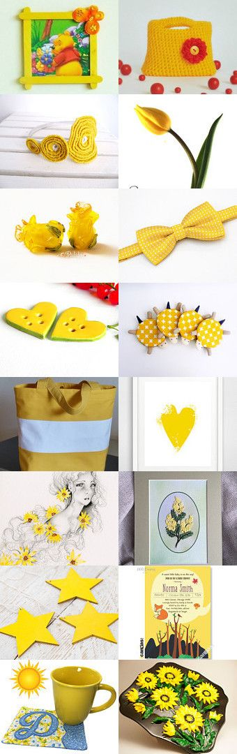Yellow finds by styledonna on Etsy--Pinned+with+TreasuryPin.com