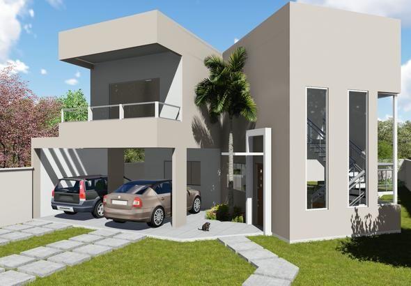13 melhores imagens sobre projetos de casa no pinterest for Modelo de fachadas de viviendas