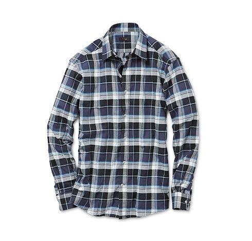 Flanelová košile, kostkovaná