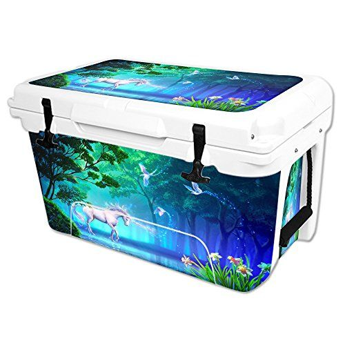 MightySkins Protective Vinyl Skin Decal Wrap for RTIC 45 qt Cooler cover sticker Unicorn Fantasy ** Want to know more, click on the image.(This is an Amazon affiliate link and I receive a commission for the sales)