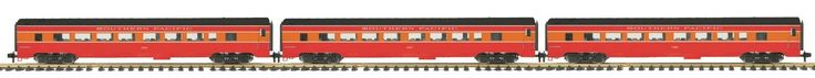 Passenger Cars 81018: Mth 70-65028, One Gauge, 3-Car Streamlined Passenger Car Set - Southern Pacific -> BUY IT NOW ONLY: $549.95 on eBay!
