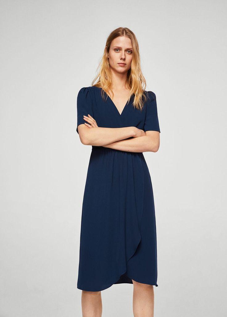 Robe à motif croisé - Femme   MANGO France