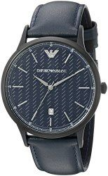 Emporio Armani Men's AR2479 Dress Analog Display Analog Quartz Blue Watch