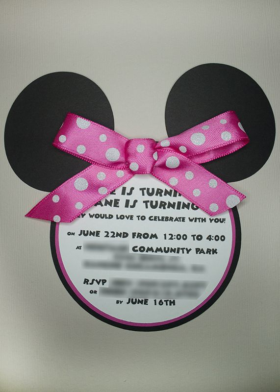 Free SVG Download Minnie Mouse Invite