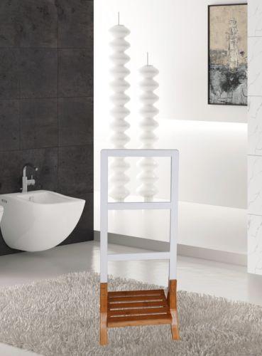 Handtuchhalter-Badetuchhalter-Handtuchtraeger-Handtuchaufhaengung-freistehend-weiss