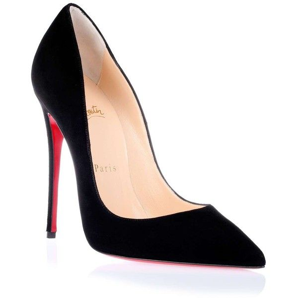 Christian Louboutin So Kate 120 black suede pump found on Polyvore