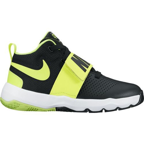 Nike Boys' Team Hustle Basketball Shoes (Black/Volt/White, Size 5.5) - Youth Basketball Shoes at Academy Sports