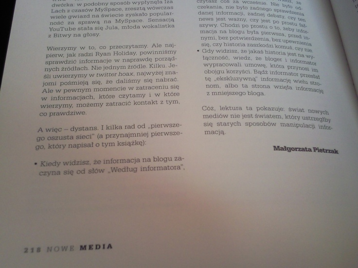 Moje nazwisko i tekst-recenzja w najnowszym drugim wydaniu @Nowe Media
