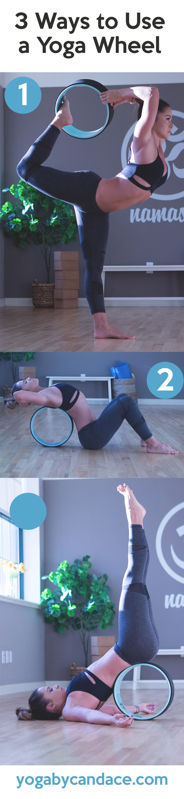3 Ways to Use a Yoga Wheel http://amzn.to/2stx5H7