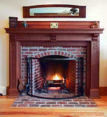 110 best home decor images on pinterest art furniture - Chimenea rustica de ladrillo ...