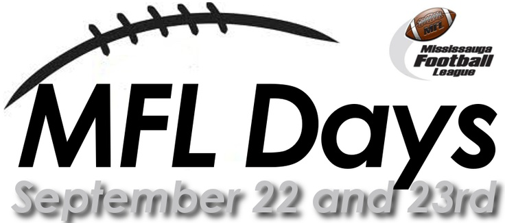 The Annual MFL Days will take place at Courtney Park Athletic Fields (St. Marcellinus SS).  Just about every team in the MFL will stream through the gates ready to play football!  The actions starts on Saturday at 4 with our Tyke Flag Teams and continues that night as the JV teams come in under the lights ready to put on a show.  On Sunday the Atom, PeeWee and Bantam teams will take to the field!  Admission is $5 - every admission gets you one chance to win a pair of Grey Cup Tickets!
