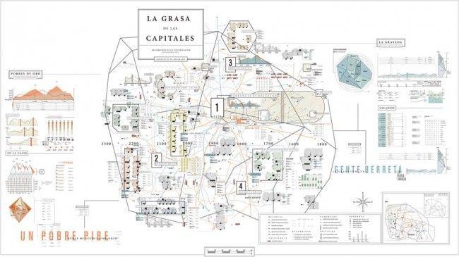 La Grasa de las Capitales, es un trabajo de esquemática realizado para la materia Tipografía II, cátedra Longinotti, en el marco de la carrera de Diseño Gráfico UBA. -160 x 90 cms.