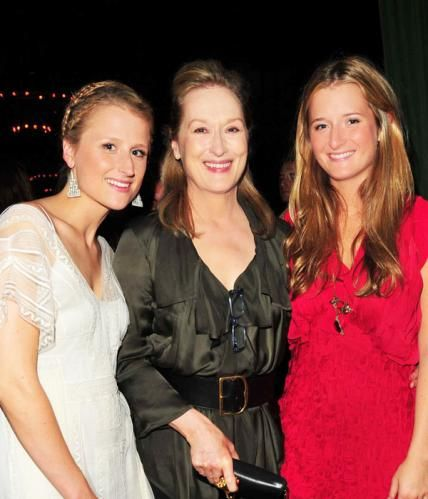 Meryl Streep and her daughters.