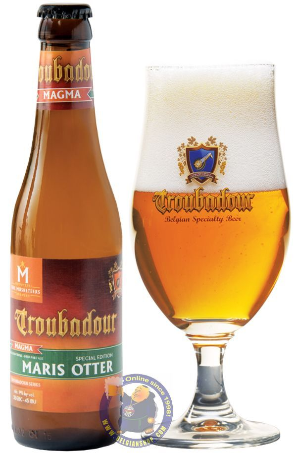 "Troubadour Magma 'Maris Otter' is the Special Edition of 2016 of the famous Troubadour Magma. The colour of Troubadour Magma ""Maris Otter 'is deep blonde with a solid foam collar. The beer with 9% alc V/V, a bitterness of 45 IBU and color of 35 EBC. ..."