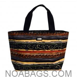 Jim Thompson Luxury Canvas Summer Bag Original Black & Multicolor