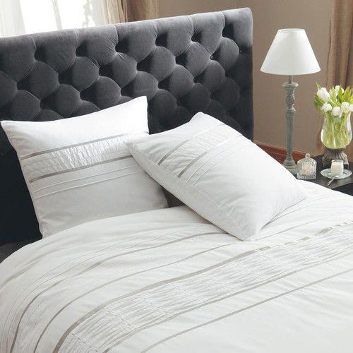 Tête de lit capitonnée vintage en velours grise L 140 cm