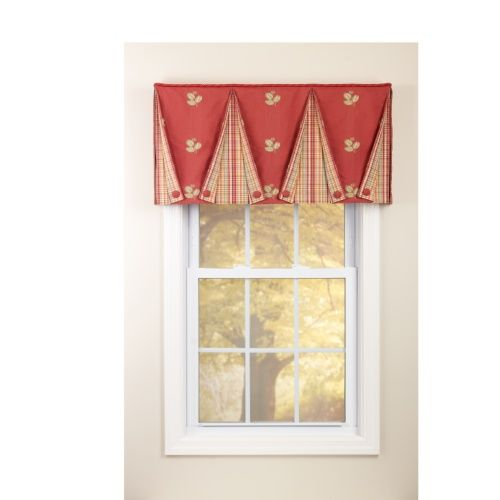 Button Back Valance Curtains Box Pleated Amp Tailored Valances Valance Custom Drapes Cute