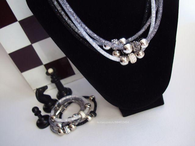 Pandora & Swarovski style necklace $5