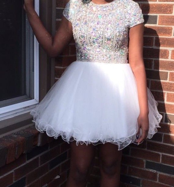 Bg671 Short Homecoming Dress,Tulle Homecoming Dresses,Crystal Beaded Homecoming