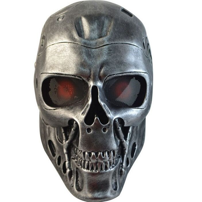 Ear-protective Terminator Full Face Mask Airsoft Paintball Mask For halloween Party CS Wargame Field game Cosplay Movie Prop