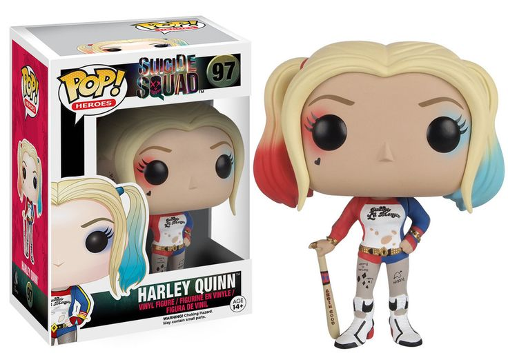 Funko Pop Heroes Suicide Squad Harley Quinn Vinyl Figure  --Be your own Whyld Girl with a wicked tee today! http://whyldgirl.com/tshirts