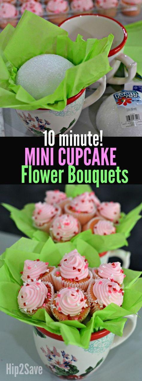 DIY Mini Cupcake Flower Bouquets (Fun & Unique Gift Idea) – Hip2Save