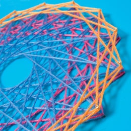 I've been looking for patterns for string art. I totally remember doing this in school.