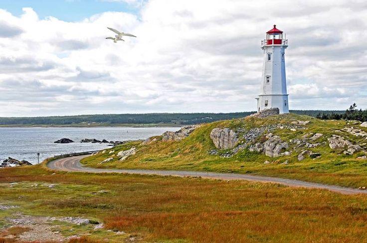 Dennis Jarvis -- Lighthouse at Louisburg on Cape Breton Island, Nova Scotia